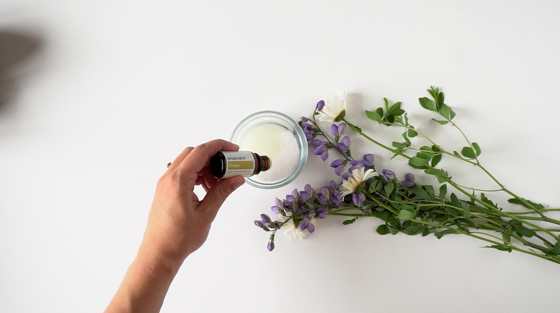 Homemade Foot Scrub Essential Oil, Essential Oil, Essential Oil Recipe, Eucalyptus Essential Oil, Sleepy Essential Oil, Blend Almond Oil